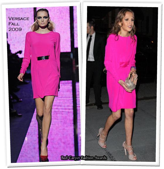 donatella versace daughter allegra. Allegra wore a neon pink