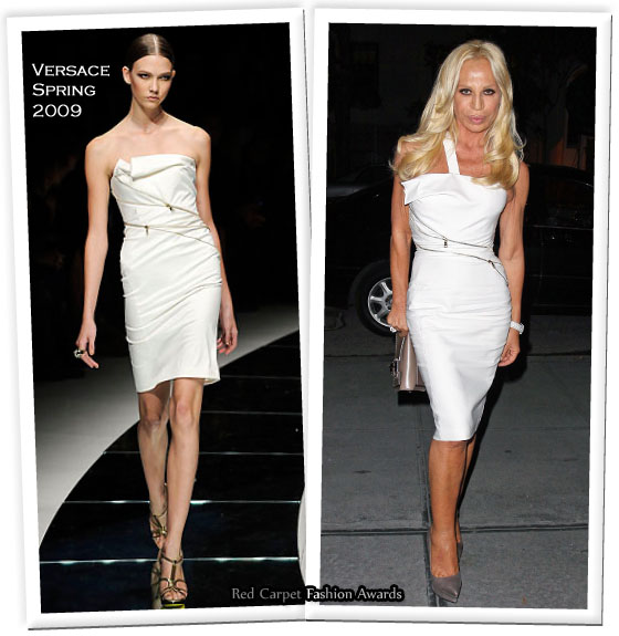 donatella versace dresses. Donatella obviously past down