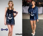 In Alesha Dixon's Closet - D&G Blue Sequined Anchor Dress