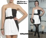 In Amber Tamblyn's Closet - Alice + Olivia Black & White Strapless Dress