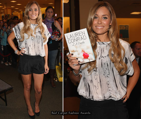 lauren conrad 2010 outfits. Lauren Conrad opts for a cute