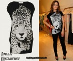 In Emily Deschanel's Closet - Stella McCartney Tiger Print Dress