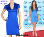 In Fergie's Closet - Alexander McQueen Blue Dress