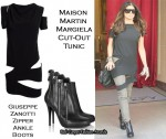 In Fergie's Closet - Maison Martin Margiela Cut-Out Tunic & Giuseppe Zanotti Zipper Boots