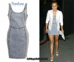 In Hayden Panettiere Closet - Topshop Denim Dress