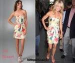 In Kelly Ripa's Closet - Jill Stuart Strapless Floral Dress