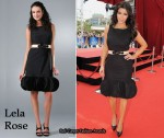 In Kim Kardashian's Closet - Lela Rose Black Sleeveless Dress