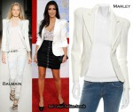 Kim Kardashian's White Jacket Was From Marley, Not Balmain