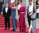 Carla Bruni-Sarkozy Meets Sheikha Mouza Bint Nasser Al Misnad At The Sarkozy State Dinner