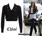 In Lindsay Lohan's Closet - Chloé Cropped Chain Detail Jacket