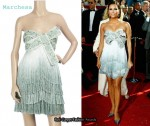 In Eva Longoria's Closet - Marchesa Strapless Fringed Bow Dress