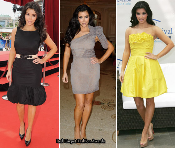 the amazing kim kardashian dresses