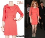 In Nicola Roberts Closet - Tibi Bow Collar Dress