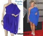 In Aubrey O'Day's Closet - Temperley London Blue Toga Dress