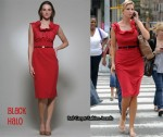 In Ivanka Trump's Closet - Black Halo Sheath Red Dress