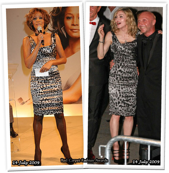8a4b25d9339 Who Wore Dolce   Gabbana Better  Whitney Houston or Madonna. They re ...