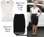 In Amber Heard's Closet - Alexander Wang Cage Top & Skirt