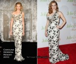 "Runway To ""Julie & Julia"" New York Premiere - Amy Adams In Carolina Herrera"