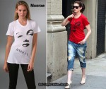 In Anne Hathaway's Closet - Monrow Marylin T-Shirt
