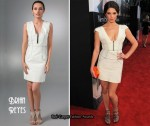 In Ashley Greene's Closet - Brian Reyes Sleeveless Double Stitch Dress