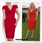 In Ashley Roberts' Closet - Alexander McQueen Red Pencil Dress