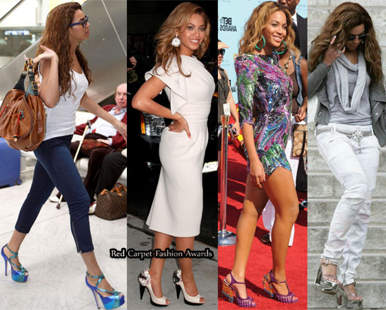 Beyonce's shoe collection includes Gucci platform heels, Toni Maticevski ...