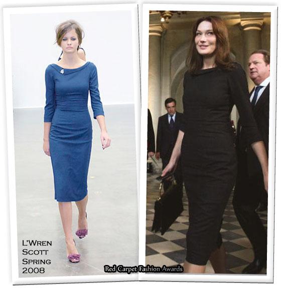 Carla Bruni Sarkozy Red Carpet Fashion Awards