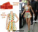 In Cheryl Cole's Closet - 3.1 Phillip Lim Ikat Print Playsuit & Thread Social Bow Belt