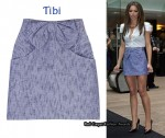 In Cheryl Cole's Closet - Tibi Bow Front Mini Skirt