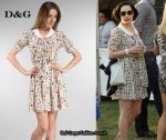 In Dita von Teese's Closet - D&G Printed Dress