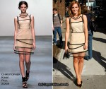 "Runway To ""Late Show With David Letterman"" - Emma Watson In Christopher Kane"