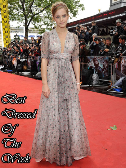 Best Dressed Of The Week - Emma Watson In Vintage Ossie Clark - Red ...