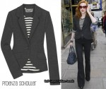 In Evan Rachel Wood's Closet - Proenza Schouler Fitted Jersey Blazer