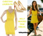 In Cheryl Cole's Closet - Milly Yellow Dress & Christian Louboutin Gold Heels