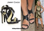In Tess Daly's Closet - Jimmy Choo Billie Lizard-Print Sandals
