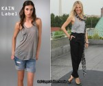 In Sienna Miller's Closet - KAIN Label Grey Pocket Tank Top