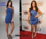 In Khloe Kardashian's Closet - Lalia Azhar One Shoulder Blue Twist Dress