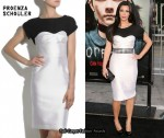In Kim Karsdashian's Closet - Proenza Schouler T-Shirt Bustier Dress
