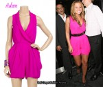 In Kimberley Walsh's Closet - Adam Pink Sleeveless Playsuit