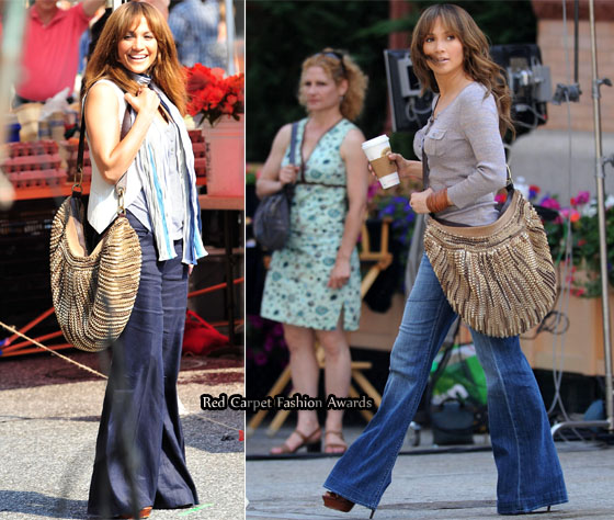 "fe2c2c475fab4 On ""The Back-up Plan"" Set With Jennifer Lopez Carrying A Diane von  Furstenberg Bag"