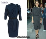 In Marion Cotillard's Closet - Lanvin Twisted Neckline Dress