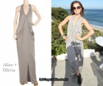 In Mena Suvari's Closet - Alice + Olivia Grey Maxi Dress