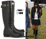 In Naomi Campbell's Closet - Jimmy Choo Crocodile-Print Wellington boots