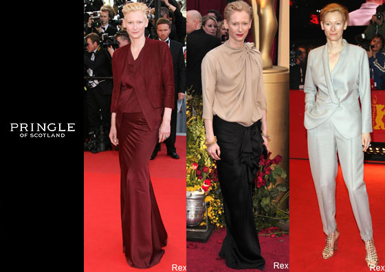 tilda swinton pringle. Tilda Swinton is Pringle#39;s new
