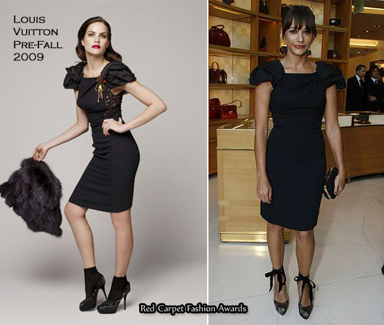 Rashida Jones opted for a Louis Vuitton Pre-Fall 2009 LBD which is seriously ...