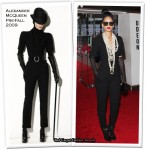 "Runway To ""Inglourious Basterds"" London Premiere - Rihanna In Alexander McQueen"