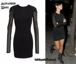 In Rihanna's Closet - Alexander Wang Slim Grommet Dress