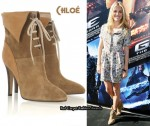 In Sienna Miller's Closet - Chloé Suede Lace-Up Ankle Boots