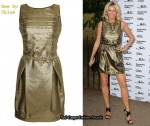 In Tess Daly's Closet - See by Chloé Gold Scalloped Dress