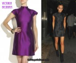 In Victoria Beckham's Closet - Victoria Beckham Briseux Silk Mini Dress